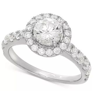 Halo Setting For Lab Grown Diamond Engagement Rings