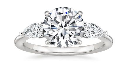 Three Stone Setting For Lab Grown Diamond Engagement Rings